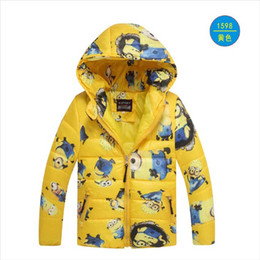 Minions clothing boy online shopping - Minion Jacket Kids Down Jacket For Boy Baby Minion Clothes Winter Down Coat Warm Baby Snowsuit Children Girl Hooded Short Coat