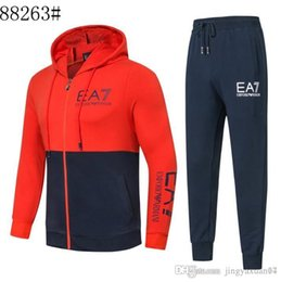 Wholesale AMN Best selling new men s brand autumn winter sports suit men s long sleeved couples leisure sweater two piece M XL