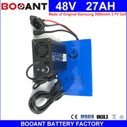 Motor Bicycles Australia - BOOANT 48V 27AH Electric Bicycle Battery E-Bike Battery for Bafang 1800W Motor Made of Original Samsung 18650 Li-ion Battery