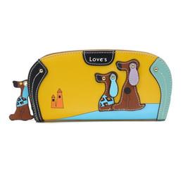 Dog Zipper Australia - Kawaii Dog Women Wallet Long PU Purse Lady Wallet Money Clip Zipper Coin Pocket Christmas Gift
