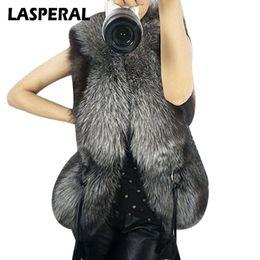 $enCountryForm.capitalKeyWord UK - LASPERAL 2017 New Leather Thick Faux Fur Collar Autumn Winter Vest Belt Bow Waist Coat Gilet For Women Coat Outerwear Plus Size