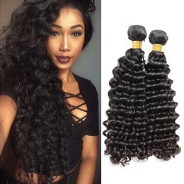 human hair weave brands 2019 - Brand Original Hair! 2pcs Lot 10-24inch Brazilian Human Hair Deep Wave Unprocessed Brazilian Original Hair Extension Bel