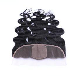 Discount virgin brazilian 4x4 silk closure - 8A Virgin Hair Silk Base Lace Frontal Closure 13x4'' Brazilian Body Wave Human Hair 4x4 Silk Top Full Lace Fro