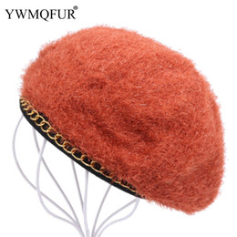 Chinese  Solid Acrylic Beret Hats For Women Winter Keep Warm Vintage Thick Ladies Hat Casual Female Beanie Caps 2018 New Arrival YWMQFUR manufacturers