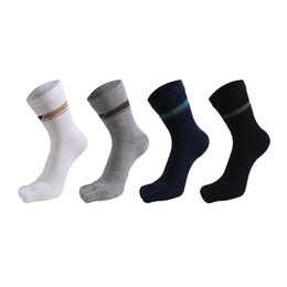 Men's Socks 1 Pair New Five Finger Pure Cotton Sock Autumn Winter Warm Unisx Style Men Women 6 Colors Accessories