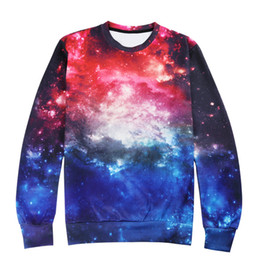 hoodie sweater female Canada - Wholesale Male Female Factory Fashion 2018 Fashion Long Sleeves Starry Sky Hoodie Coat Jacken Sports Sweater Unisex Outfits Ypf108