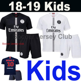 18 19 PSG Kids soccer jersey Champions 2018 2019 3RD Child MBAPPE CAVANI DI  MARIA T SILVA baby football shirt Maillot de foot AAA Thailand 76ab6fc29