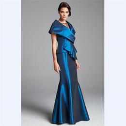 feeb65458d 2018 waishidress Royal Blue Taffeta Mother s Dresses Custom Jewel Pick Ups  Mother Of the Bride Dresses Floor Length Long Evening Gowns