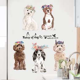 Chinese 3d Wall Stickers Australia - 150*60cm Fancy of Dogs Wall Stickers Wallpaper Paper Peint 3d Home Decor Bathroom Kitchen Accessories Household Suppllies