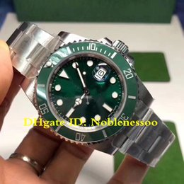 Discount mens swiss mechanical watch - Super Version 904L Steel Noob Factory V9 Version Mens 40mm 116610 116610LN 116610LV Swiss CAL.3135 Movement Dive Men&#03