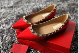 Luxury design Women Rivet shoes patent Leather Pointed Toe rock Studded valentine woman flats loafers reliable sale online cheap good selling outlet footlocker free shipping sale outlet low shipping fee jQNPPUM