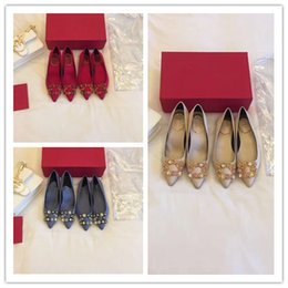 high end wedding dresses 2019 - Gentlewoman style dress shoes Fashionable, high-end and elegant Set auger Single shoes heel high 1.5 or 6.5 cm cheap hig