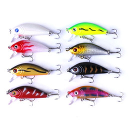 Mix Artificial Bait Australia - wholesale 48pcs lot Fishing Lures Set Mixed Lure Artificial Professional Crank Minnow Bait Wobblers Fishing Tackle Outdoor Simulation Lure