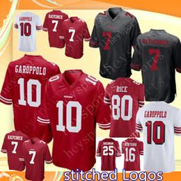 49ers 10 Jimmy Garoppolo 25 Richard Sherman 16 Joe Montana 21 Deion Sanders  56 Reuben Foster Jersey Men s San Francisco 49ers Jerseys ca8d2501a