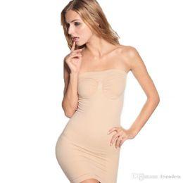 f11d505784be9 Shapewear Slip Australia - Wholesale- Body Shaper Dress Women Underwear  Control Full Slips Tube Dress
