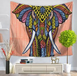 ElEphant dEcorations homE online shopping - 13 Style Colored Drawing Wall Tapestry Multifunction Lucky Elephant Beach Towel Tablecloth For Home Decoration Supplise Free Ship