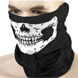 China 2020 new half face Scarf Mask Festival Skull Masks Horror Scary Party Masks Festive Supplies Mask suppliers