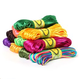 $enCountryForm.capitalKeyWord NZ - 2mm 20meter Soft Satin Rattail Silk Macrame Cord Nylon Kumihimo For DIY Chinese Knot Bracelet Necklace Jewelry Finding