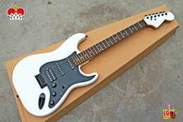 Cheap guitars online shopping - High Quality cheap price GYST white color with Black plate rosewood fingerboard ST Electric Guitar Can be Customized