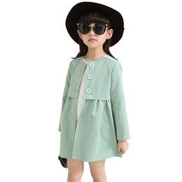 $enCountryForm.capitalKeyWord Australia - Girl Outerwear Cotton O-neck Coat Female Autumn Long Sleeve Roupas Infantis Menina Sweet Single-breasted Cardigan For Girls