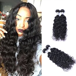 Discount wavy hair extensions for black women - Peruvian Virgin Human Natural Wave Hair Weave 100grams piece Body Wavy Hair Natural Black 2pcs lot Hair Extensions For B