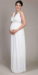 $enCountryForm.capitalKeyWord NZ - free shipping 2018 New design hot sale maternity dress chiffon pregnant woman custom size color v-neck white bling evening dress