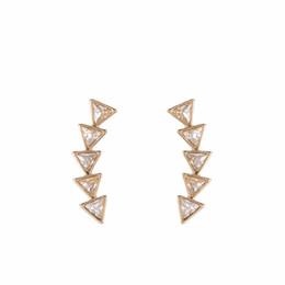 Fashion design major online shopping - European Fashion Ornaments Original Design A Tide Woman Earrings High Archives Major Suit Diamond Ear Nail Earring haif