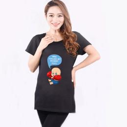 fab31f21829ba 2018 New black Funny Pregnant T Shirt Pregnancy Cotton Shirts Casual Tees  Blouse Print Tops Summer Maternity clothes P21