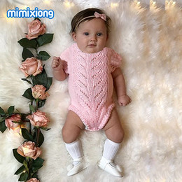 baby knits free patterns NZ - Short Sleeve Newborn Onesie Summer Free Knitting Pattern Baby Girls Bodysuits Hollow Out Infant Coveralls Children Clothing 0-2T
