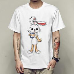 $enCountryForm.capitalKeyWord Canada - Rabbit nurse t shirt Fun picture short sleeve gown Fadeless tees Unisex clothing Quality modal Tshirt