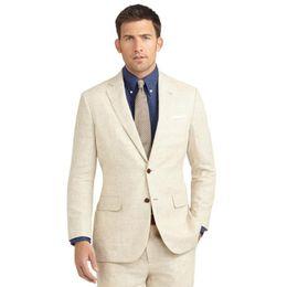 $enCountryForm.capitalKeyWord Canada - Linen Casual Men Suits Wedding Groom Wear Terno Tuxedos Slim Fit 2 Pieces (Jacket+Pants) Bridegroom Prom Blazer Costume Homme