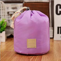 $enCountryForm.capitalKeyWord Canada - Best Korean elegant large capacity Barrel Shaped Nylon Wash Organizer Storage Travel Dresser Pouch Cosmetic Makeup Bag For Women DHL Free