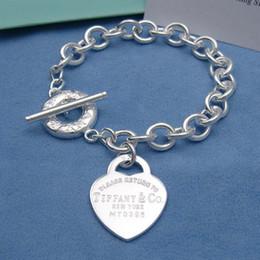 $enCountryForm.capitalKeyWord Australia - jiangyu High Quality Celebrity design Silverware Silver Chain bracelet Women Letter wristband Bracelets Jewelry With dust bag Box