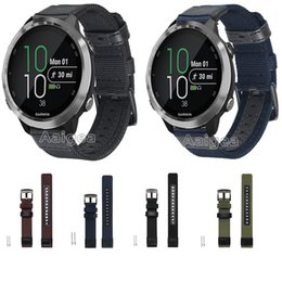 garmin smart band 2019 - Woven Nylon Watch Band Strap For Garmin Forerunner 645 Smart Watch Classic nylon Replacement Bracelet Sport Wristband st