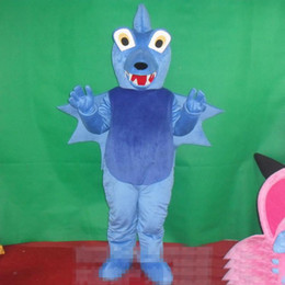 2019 HOT Adult size Cartoon Blue Dianosaur Mascot Costume Halloween Natale Bad Guy Dianosaur Carnevale Dress Full Body Puntelli Outfit Mascotte