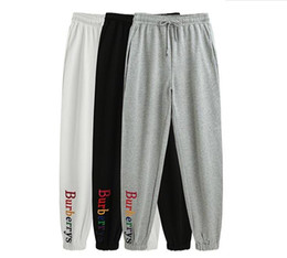 Discount mens full length yoga pants - 2018 Mens high quality letter embroidery sweatpants designer track jogging pants womens yoga joggers track streetwear sw
