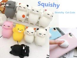 Mini Squishy PU Katze Cute Antistress Ball Squeeze Kawaii Stretchy Animal Healing Stress Kinder Spielzeug Telefon DIY Zubehör