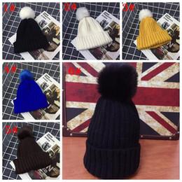 $enCountryForm.capitalKeyWord Australia - 12 colors Newborn Baby Boy girl Children Warm Fur Hat New Bobble Knit Crochet Beanie Cap
