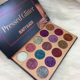 $enCountryForm.capitalKeyWord NZ - Beauty Glazed Pressed Glitter Eyeshadow Palette (15 Colors) - Highly Pigmented, Shimmery Golden Rose Makeup Eye Shadow Pallete