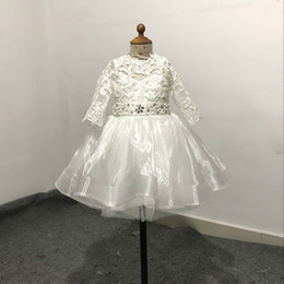 Royal Wedding Pictures NZ - Real Picture Short Crystal Lace Flower Girl Dresses First Communion Dress For Little Girl A-Line Kid Birthday Party Dress Pageant Gown
