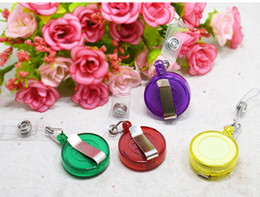 $enCountryForm.capitalKeyWord NZ - Free Shipping Wholesale Retractable Ski Pass ID Card Badge Holder Key Chain Reels Random Colors W8317