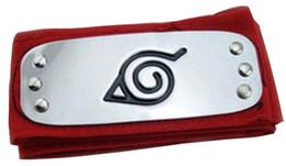 Venta al por mayor de Anime Naruto Diadema Leaf Village Logo Konoha Kakashi Akatsuki Miembros Cosplay Costume Accessories azul rojo negro