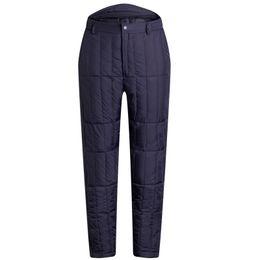 Warm Waterproof Pants Men UK - Plus Size 4XL Men Pants Winter Warm Waterproof 95% Down Trousers Male Casual Thick Gray blue Loose Pants 2018