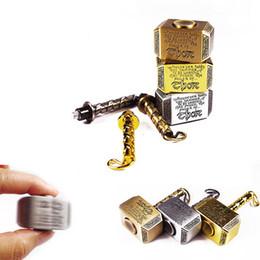 Blue fidget spinners online shopping - New Fidget Spinners arrival Metal Hammer Fidget Spinners Thor Hammer hand Spinner Zinc Alloy Hand Spinner Metal Hammer Spinners EDC