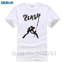 2ec6eb4e57e The Clash t shirt Band T-shirt London Calling music t Shirts classic hip  hop short sleeve top colored plus size O-Neck tee