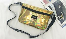 066aeee53f2 Stock Pink letter Laser Waist Bag LOVE PINK Rainbow Hologram Shiny Fanny  Pack PACKS Translucent Waterproof Beach Bags Women Crossbody