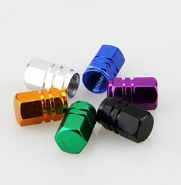 Universal-Mehrfarben-Hexagon-Reifen Rad Ventilkappen Aluminium-Legierung Ventil Luft Staubabdeckungen Farbe grün Gold Rot Blau Silvet Schwarz lila