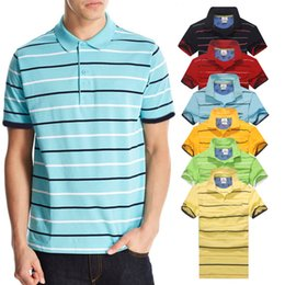 Yellow polo shirts online shopping - New arrival Stripe Polo Shirt Men crocodile Short Sleeve Summer Casual Camisas Polo t shirt Mens Free Ship