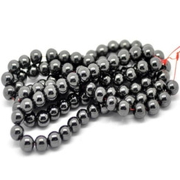 Discount gift art - DIY Ornaments Parts Manual Round Bead Hematite Beads Man Woman Party Supplies Decoration Arts Crafts Gifts Pure Color 1