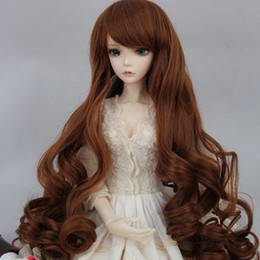 Discount bjd hair accessories - fits 1 3 1 4 1 6 BJD SD Doll Wigs 1 3 1 4 1 6 Optional 4 color Long Curly Wave Roll hair 025
